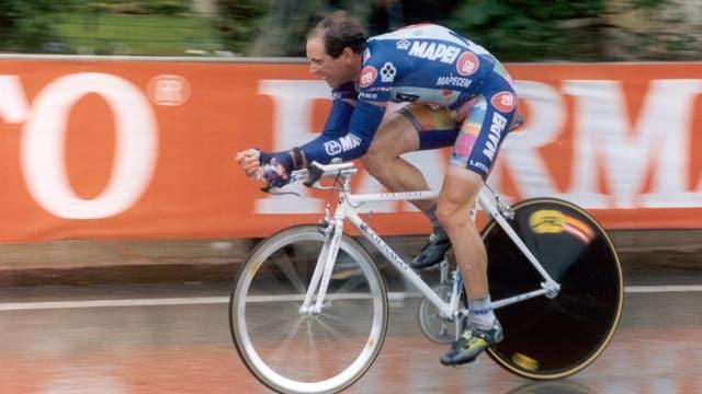Tony Rominger ist der bislang letzte Schweizer Giro-Gewinner.