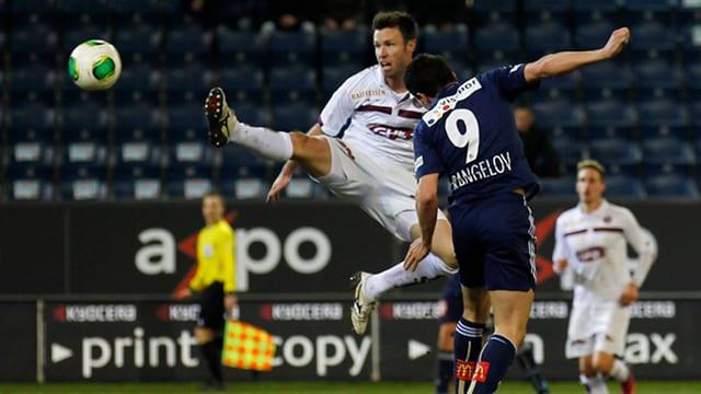 Szene aus dem Superleague-Spiel Luzern gegen Servette Saison 2012/2013