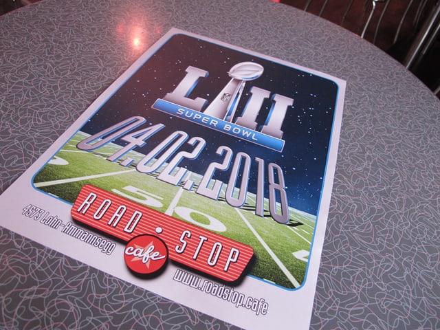 Plakt für den Super Bowl 2018