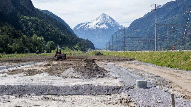 Platz neben Nordportal vom Gotthard