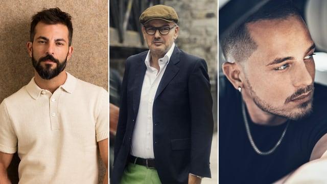 Von links: Bligg, Philipp Fankhauser und Loco Escrito.