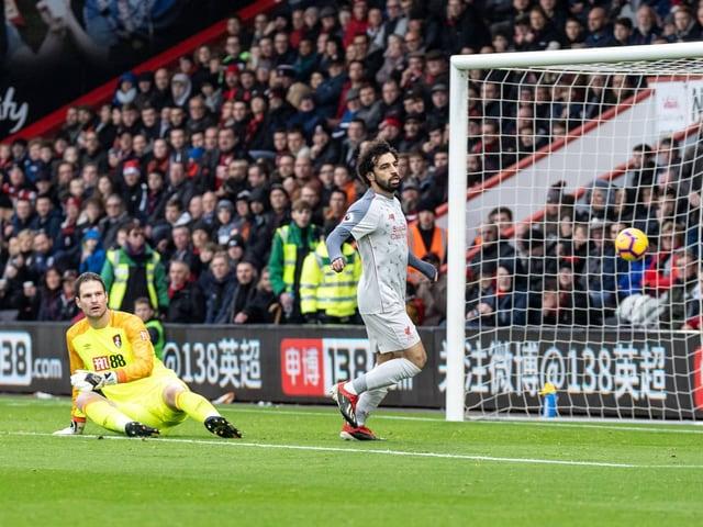 Beim 1:0 profitierte Salah von einem Abpraller bei Begovic.