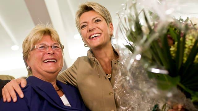 Eine glückliche Karin Keller-Sutter.