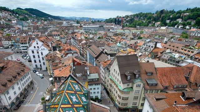 Die Stadt St.Gallen von oben.