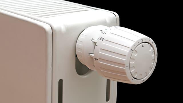 Thermostat einer Heizung.