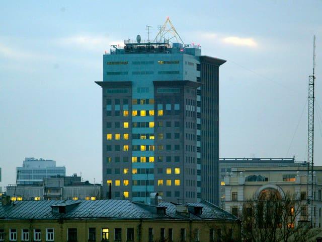 Der Hauptsitz vom Ölkonzern Yukos in Moskau.