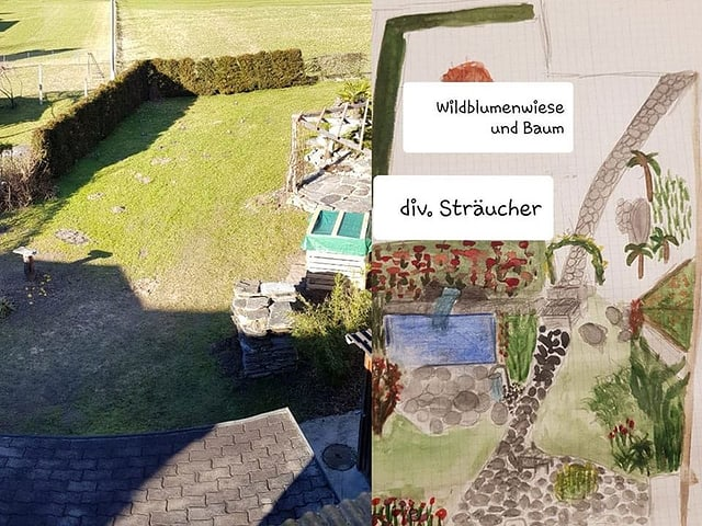 Martina Freulers Gartenplan