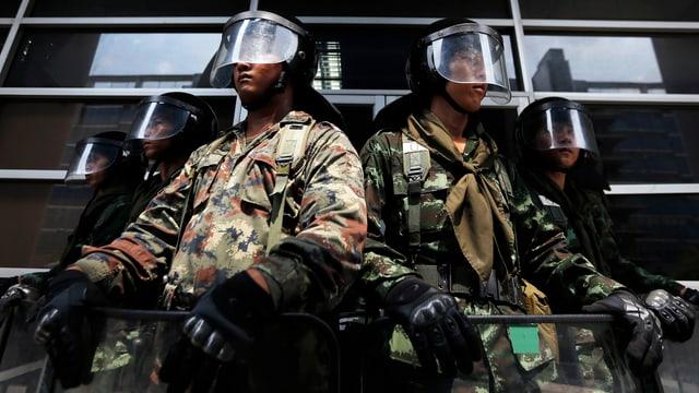 Thailändische Soldaten.