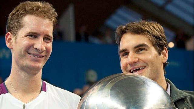 2010 standen sich Mayer und Federer im Endspiel von Stockholm gegenüber - mit dem besseren Ende für den Schweizer.