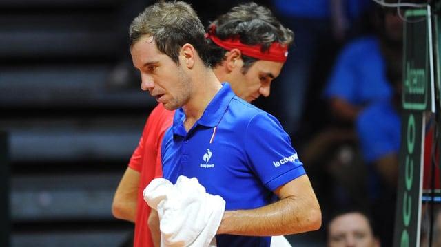Richard Gasquet und Roger Federer.