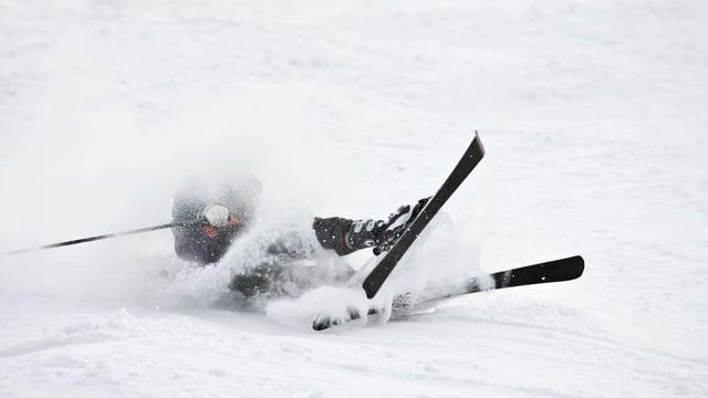 Ski-Sturz