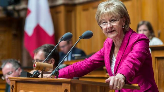 Susanne Leutenegger Oberholzer im Parlament.