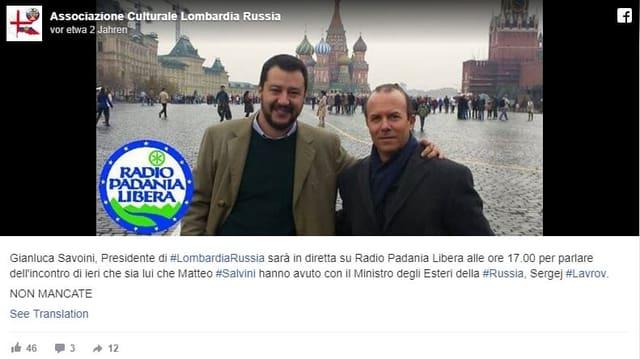 Salvini und Savoini in Moskau