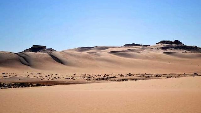 Die Wüstenregion «The Great Sand Sea» in der Sahara.