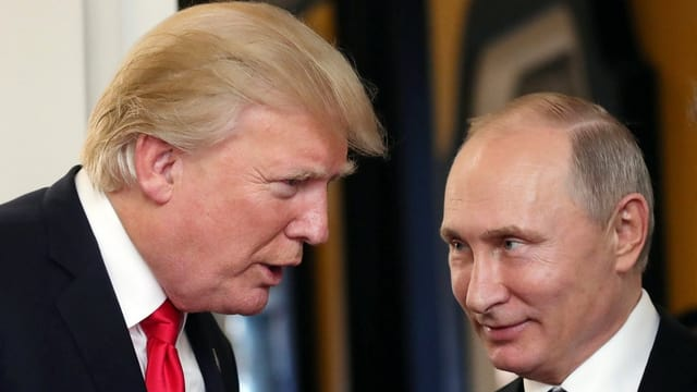 Trump (links) und Putin