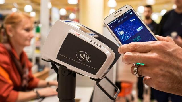 Ein Smartphone anstelle von Bargeld.