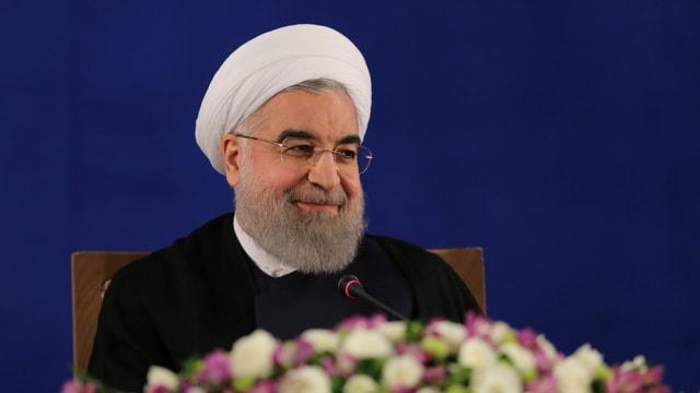 Irans neu vereidigter Präsident Rohani.