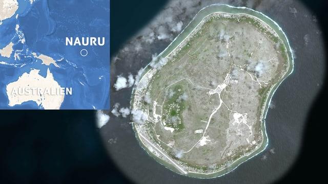 Karte Nauru.