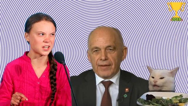 Greta Thunberg, Ueli Maurer und Smudgelord