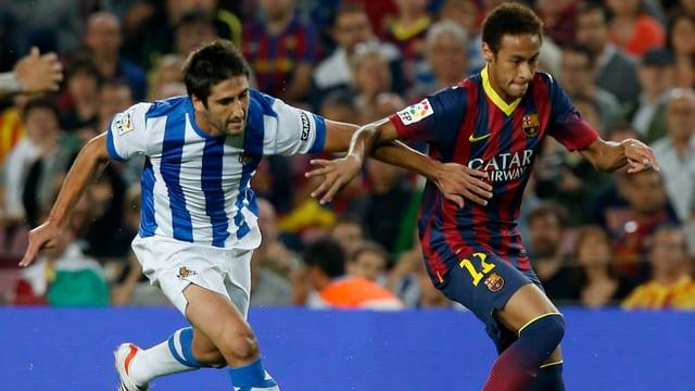 Barca setzt sich problemlos gegen Real Sociedad durch.