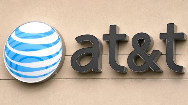 Das Logo der Firma AT&T