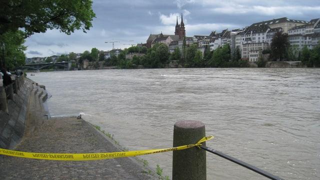 Kleinbasler Rheinufer.