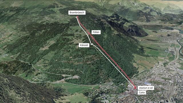 Plan da las duas pussaivladads a Brambrüesch.
