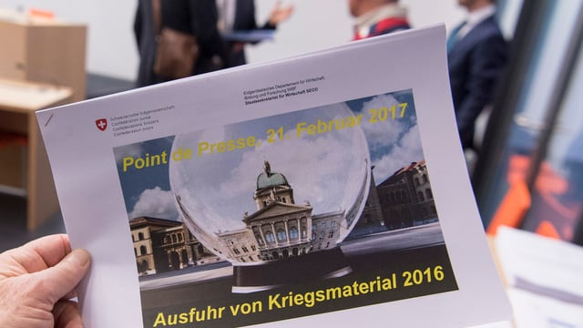 Der Bericht zu den Kriegsmaterialexporten 2016
