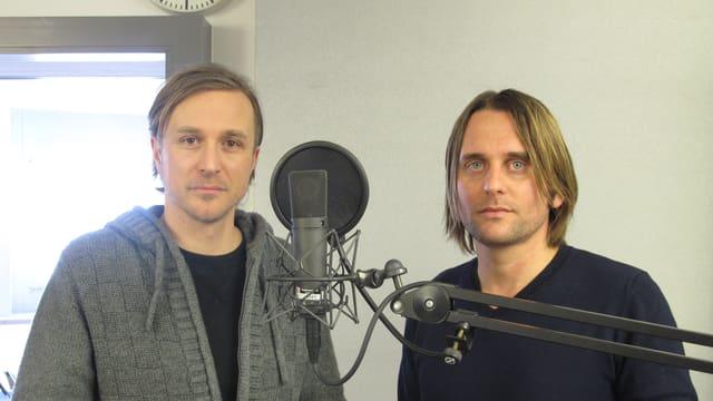 Pee Wirz und Lukas Schaller im Regionalstudio Luzern.