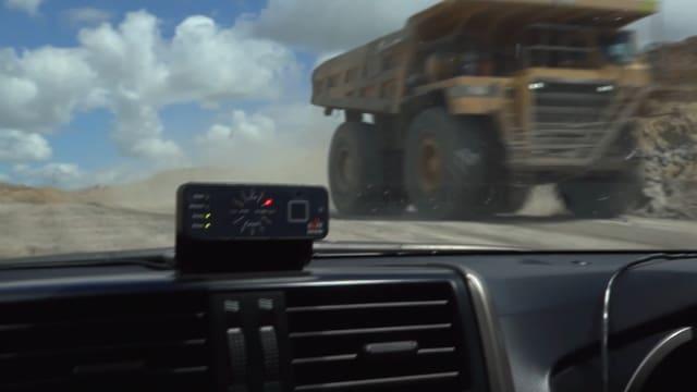 Safemine-Gerät in Fahrzeug in Mine.