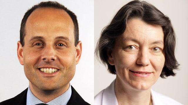Prof. Alexander Huber und KD Dr. Dorothe Veraguth
