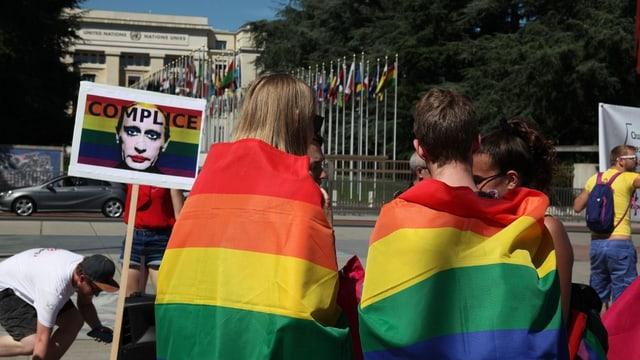 Genf: Demonstration für LGBT in Tschetschenien im Juni 2017