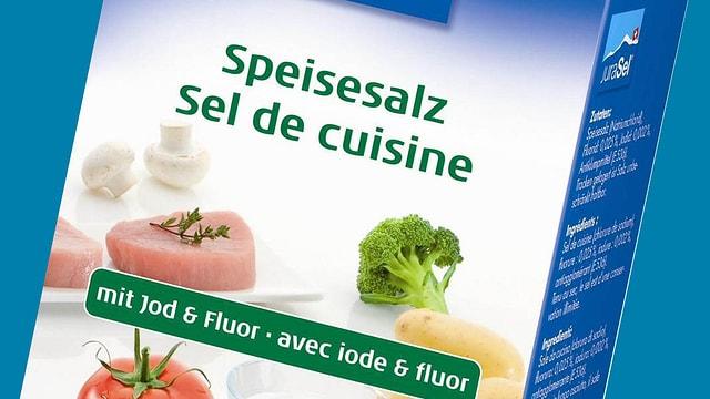 Packung Speisesaltz mit Jod und Fluor
