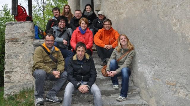 La squadra dal Telesguard a Razén.