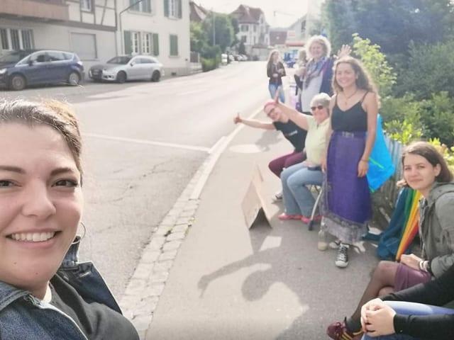 Selfie von Funiciello und anderen Frauen