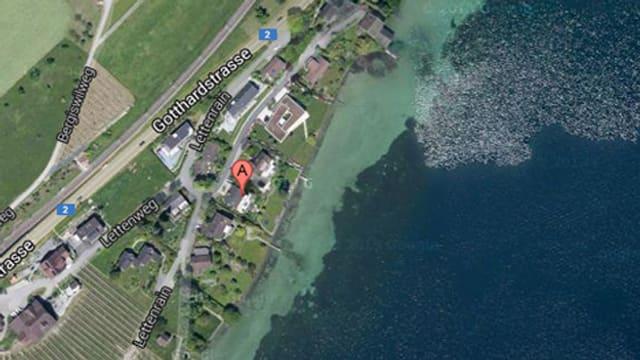 Satelittenbild des Gebietes, wo sich die Detonation ereignete