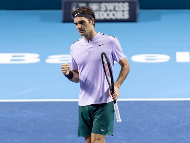 Roger Federer ballt die Faust.