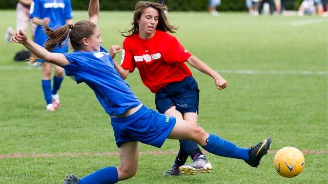 Nachwuchsfussballerinnen am Fussball CS-Cup