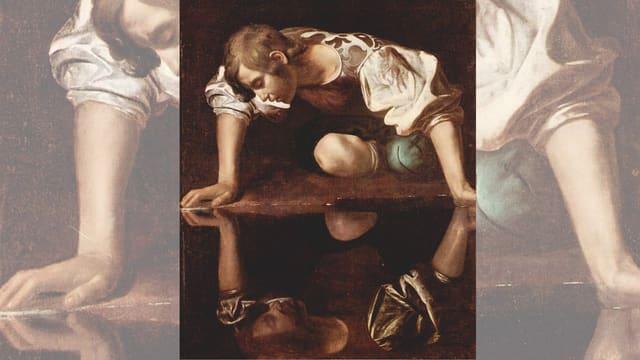Narziss, Ölgemälde von Caravaggio in der Galleria Nazionale d'Arte Antica, Rom