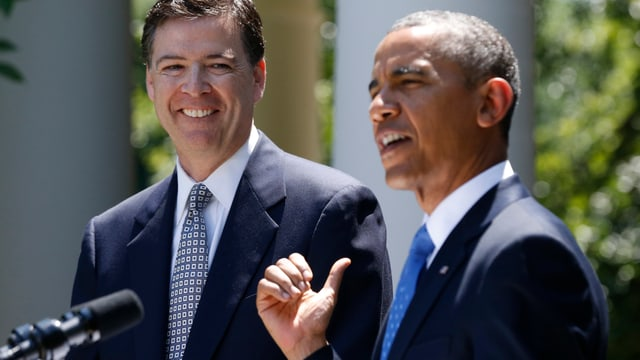 Präsident Obama (rechts) mit FBI-Kandidat Comey