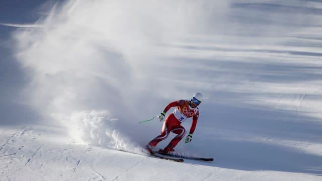 Carlo Janka auf einer Skipiste in Sotschi.