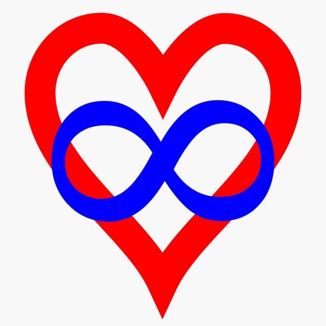 Ein Herz mit einem Unendlichkeitszeichen.