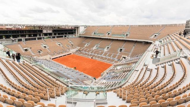 Der Court Philippe Chatrier in Roland Garros.