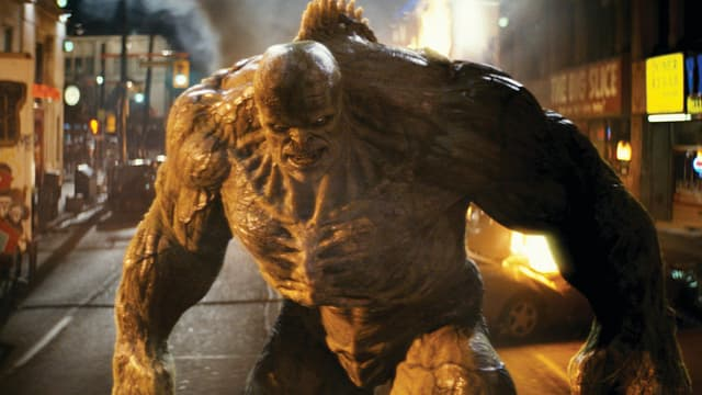 Eine (computer-animierte) Figur aus dem Film «The Incredible Hulk», 2008.