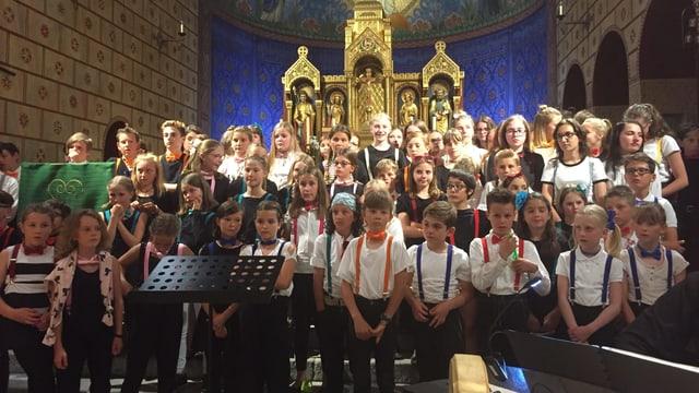 Il chor facultativ da la scola communala da Samedan: Las Filomelas