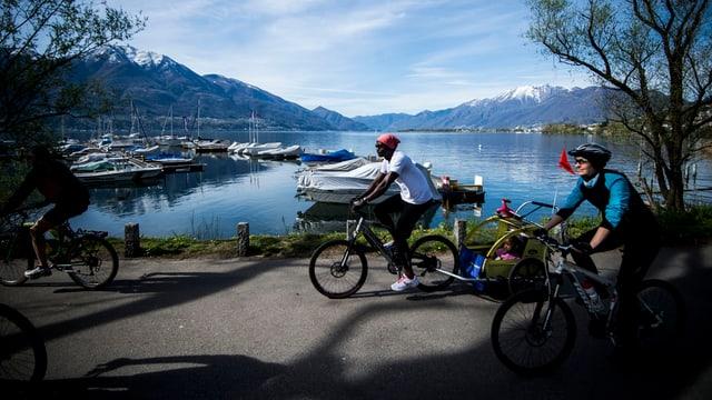 A Lugano ed a Losanna fan ils abitants main che 1% dal viadi cun il velo.
