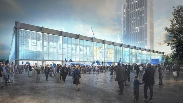 Entzweit die Linken: Das geplante Fussballstadion auf dem Hardturm.