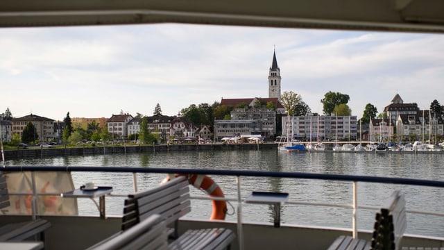 Blick auf den Romanshorner Hafen
