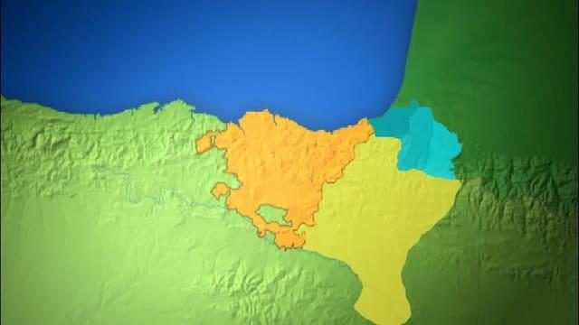 Charta cun nudà las trais provinzas bascas en Spagna ed en Frantscha.