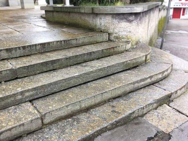 Alte Steintreppe.